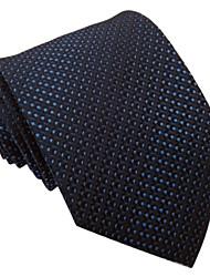Мужская синий Италия Стиль Мода Dot Бизнес Отдых Тканые галстук