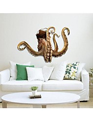 3D The Octopus  Wall Stickers Wall Decals