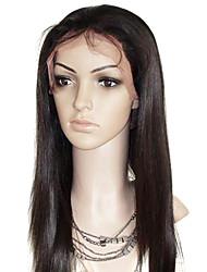 Cabelo Liso 100% cabelo humano 18inch Lace Wig frontal