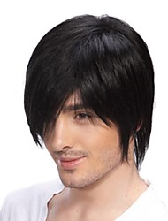 Top Grade Quality Human Hair  Men's  Wigs 4 Colors to Choose