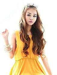 Woman Capless Long Wavy Synthetic Wigs 3 Colors Available