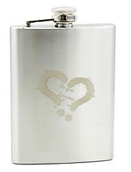 Personalizado de aço inoxidável 8 oz Flask Palavras - corss Meu coração