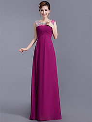 Formal Evening Dress Sheath/Column Scoop Floor-length Chiffon