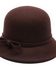 Women'S And Men's Wool Bow Bowler Fashion Hats