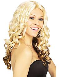 Fantasia Bola sintética peruca festa longo ondulado peruca (Golden Blonde)