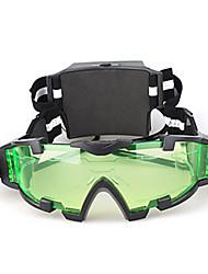 Gafas de visión nocturna con luces LED de la lente verde con grabado Gráfico