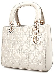 BABEINI  Women's Fashion Casual Simple One Shoulder Tote(White)