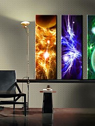 Leinwand-Kunst-Zusammenfassung Bright Star Lila Wallpaper-Set 3