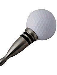 Style de Golf Creative vin d'acier inoxydable Air bouchon étanche - Blanc et Silver