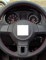 Genuine Leather Steering Wheel Cover For Volkswagen Golf 6 Mk6 VW Polo Sagitar Bora Santana Jetta