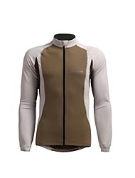 JAGGAD Men's Cycling Tops / Jerseys Long Sleeve Bike Spring / Autumn Breathable Coffee S / M / L / XL / XXL