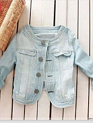 Women's Blue Denim Jacket , Casual/Cute ¾ Sleeve