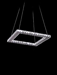 Crystal Pendant,12 LEDs, Modern Chic Stainless Steel Plating