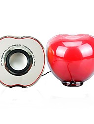 Music-F  M-17 AppleHigh Quality Stereo USB 2.0Multimedia Speaker   (Red)