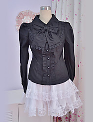 Blouse/Shirt Classic/Traditional Lolita Princess Cosplay Lolita Dress Lace Long Sleeve Lolita Blouse For Polyester