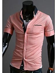 Einfache Lässige Short Sleeve Shirt Männer
