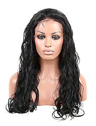 22 polegadas 100% Indian Remy Humanos cabelos soltos ondulados Lace Front perucas com tramas nas costas 7
