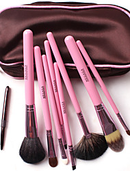 Colors Zipped Horse Hair 8 PCS Set Cosmetic Brushes