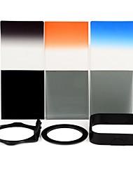 SHSYKJ05 10-en-1-3 progressifs Filtres / 3-ND Objectif + Ring + Mount Set pour 72mm Camera Lens - Noir