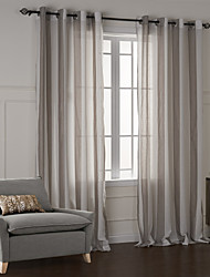 (Two Panels) Modern Fancy Classic Plaid Jacquard Curtain
