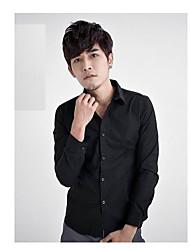 Pure Color Slim shirt pour hommes