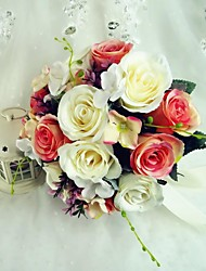 Colorful Free-form Satin Wedding Bouquet