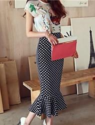 Trajes Vintage Fishtail Ruffle de mujer (blusa + falda)
