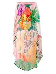 Da mulher impresso saia assimétrica