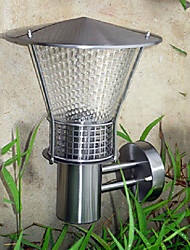 Outdoor Wall Light, 1 Luce, Moderno Acciaio Vetro Galvanotecnica