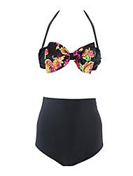 Women's Halter Floral Pattern Bikini