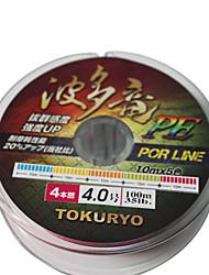 TOKURYO PE 100M Fishing Line Pack(8 Carries)