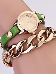 Koshi 2014 de las mujeres de la manera sobre Gild Rivet reloj de la cadena (verde)