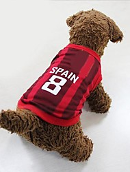 New World Cup Soccer Sports Spain Vest  for Pet Dogs(Assorted Size)