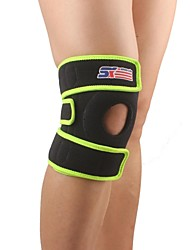 Adjustable Silicone 2-spring Sport Knee Guard Protector - Free Size