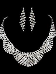 ME Vintage Luxury Austria Rhinestone Set Wedding Necklace And Earings Set T0012