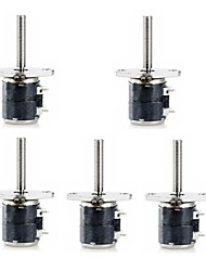 Jtron 2-Phase 4-Wire 6mm  Micro Stepper Motor with Small Screw  (5 PCS)