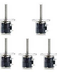 Jtron 2-Phasen 4-Leiter-6mm Micro Stepper Motor mit kleinen Schrauben (5 PCS)
