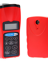 Double unit Portable With laser point LCD Ultrasonic Distance Measurer Meter 30M Measuring Tape Rangefinder