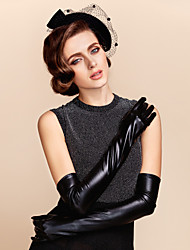Opera Length Fingertips Glove Leather Bridal Gloves / Party/ Evening Gloves / Winter Gloves Spring / Fall / Winter