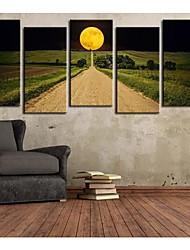 Su tela Art Landscape The Road to Hope Set di 5