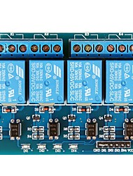 4 relais del canal 5V Módulo Negro y Azul