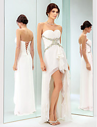 Sheath / Column Sweetheart Asymmetrical Chiffon Cocktail Party Holiday Dress with Beading by TS Couture®