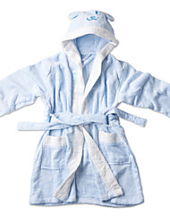 Bamboo Fiber Solid Kids Hooded Bathrobe