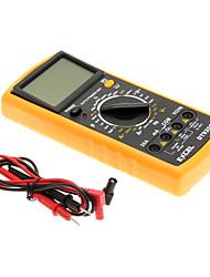 """LCD DT9205A 3 """"multimètre numérique (noir et orange)"""