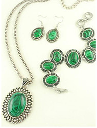 europeo collar de turquesa de la aleación pendiente del estilo y de la joyería de la pulsera