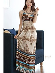 Women's Elegant Wrapped Neck Summer Maxi Dress
