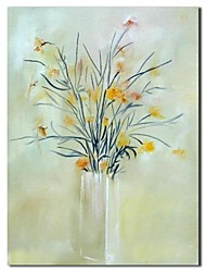 Hand Painted Oil Painting Still Life Vase Flower Painting with Stretched Frame