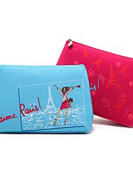 Desenhos animados composição colorida torre Eiffel de Paris Clutch Bag Cosméticos saco de armazenamento (cores sortidas)