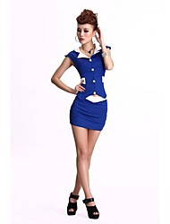 Women's Sauna Hotel Overalls Stewardess Clothing Suit (Blouse & Skirt)