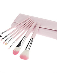 7Pcs Small Pink Cosmetic Brush Suit